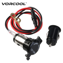 VORCOOL 12V 120W Car Motorcycle Female Cigarette Lighter Socket with DC 5V 2.1A Waterproof  Dual USB Car Power Adapter Charger