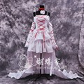 Anime Pandora Hearts Cosplay Costume The Will of the Abyss Alice Party Dress White Vintage Lolita Dresses