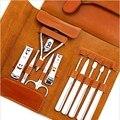 Cortador de unhas 11 peças Conjunto de terno grande conjunto manicure presente aumento acessórios de Alta qualidade de couro