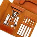 Nail clippers 11piece Set leather suit large gift manicure set increase accessories High quality