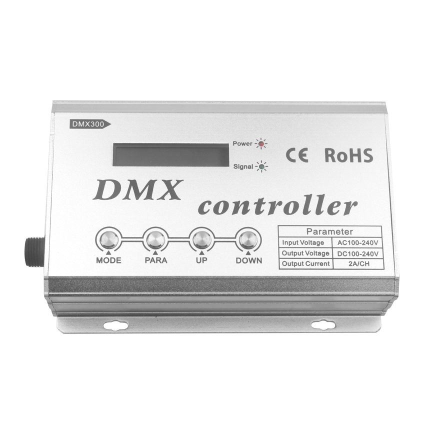 AC100-240V DMX controller with LCD display control RGB color change of 4 line 3 channels LED lamp,34 kinds of change mode choose at043tn24 v 1 4 3 lcd led