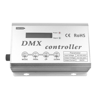 AC100 240V DMX Controller With LCD Display Control RGB Color Change Of 4 Line 3 Channels