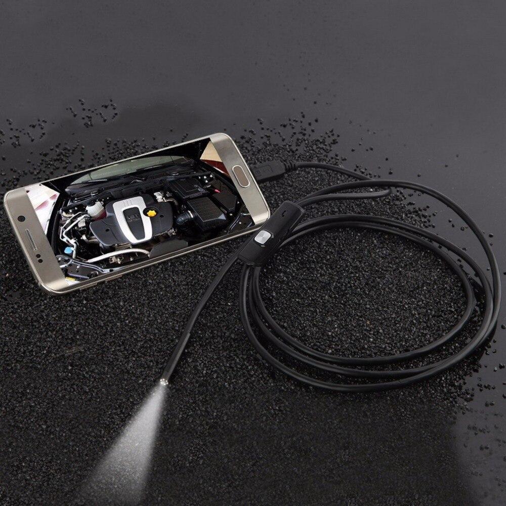 7mm 1 1 5 2 3 5 5M Focus Camera Lens USB Cable Waterproof 6 LED