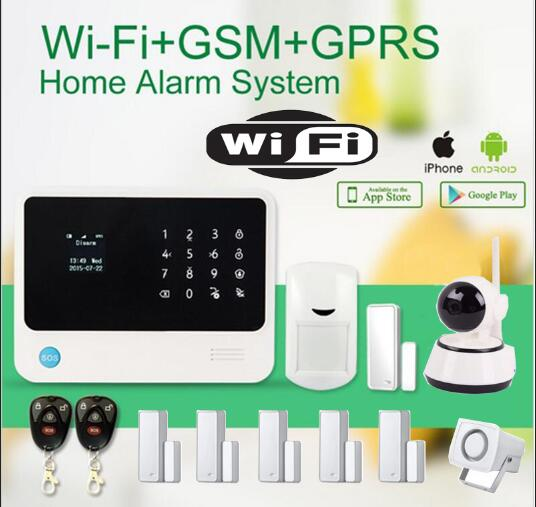 G90B plus GSM WIFI alarm system Support phone APP control 720P HD wifi IP camera wireless PIR sensor smart home intruder alarm