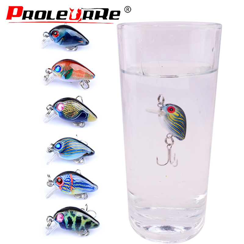 Proleurre 30mm 2g Crankbait Fishing Lure Artificial Hard Baits Bass Fishing Wobblers Japan Sinking Minnow Fish Lures Tackle