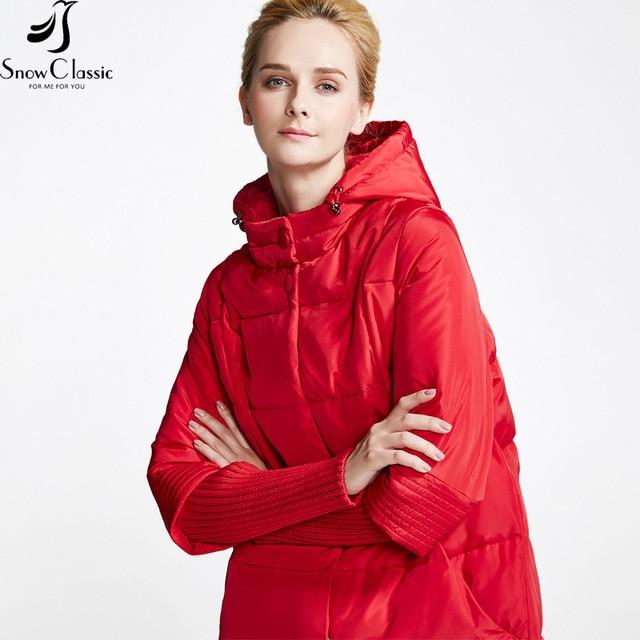 Snowclassic Новый Зимы Женщин Вниз Куртка Женская Куртка С Капюшоном Вниз Куртка Женская Зимняя Куртка Большие Продажи 15337