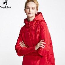 Snowclassic Women's Winter Jacket 2016 Thick Long Coat Hood Female Winter Fashion Parkas Winterjas Dames 15337