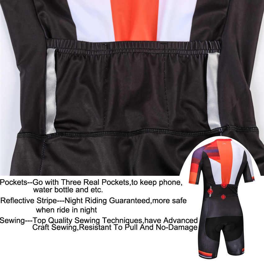 Pro Tim Bersepeda Skinsuit Triathlon Trisuit Ropa Ciclismo Maillot Jumpsuit Balap Jalan Skinsuit Sepeda Jersey Pakaian Olahraga