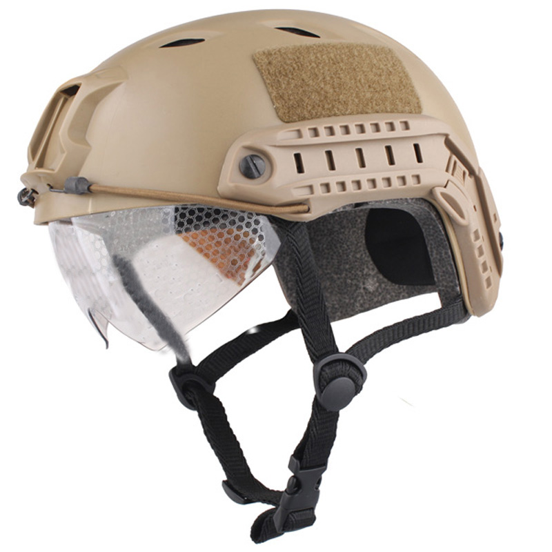 New Airsoft Paintball Base Jump Helmet Protective Goggles Military Tactics Retail Airsoftsports For Hunting Free Shipping
