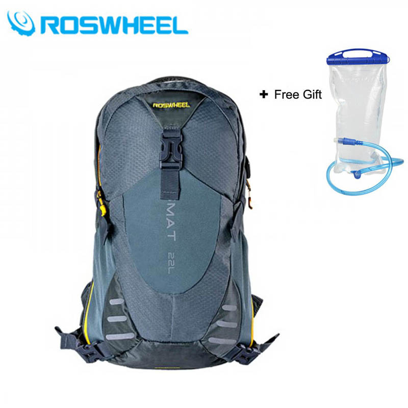 ROSWHEEL 22L Ultralight Cycling Mountain Bike Bag Hydration Pack Water Backpack Reflective Bicycle Bike/Hiking Climbing Pouch hydration pack water rucksack backpack cycling bladder bag hiking climbing pouch