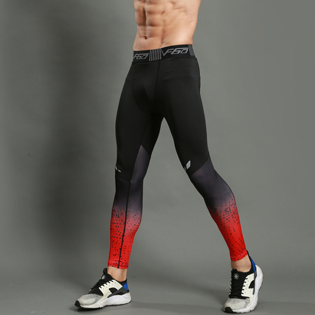 GANYANR Brand Running Tights Men Sports Leggings Sportswear Long Trousers Yoga Pants Winter Fitness Compression Sexy Gym Slim