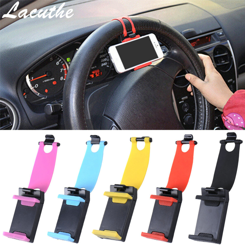 Universal Car Phone Holder Bracelet For Iphone 7S 6S 5s Steering Wheel Car Stand Mount For Samsung Note Series GPS Smart Phone