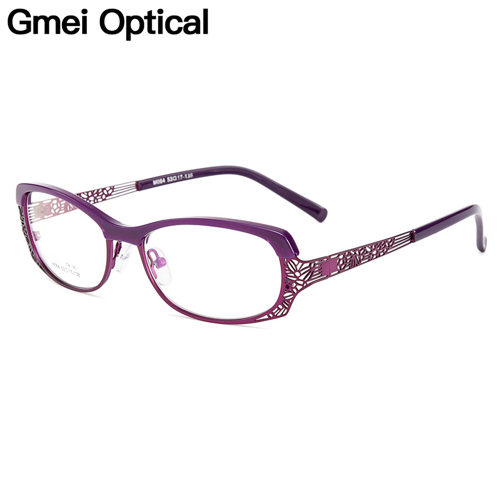 Gmei Optical Women Oval Ultralight TR90 & Alloy Full Rim Optical Glasses Frames For Myopia And Presbyopia Spectacles M064