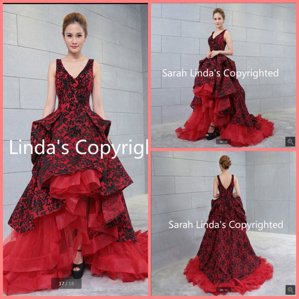 Online get cheap black red wedding dresses for Red and black wedding dresses for sale