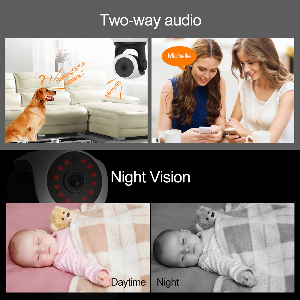Wi-fi Video Surveillance Night Security Camera Network Indoor Baby Monitor C7824WIP 3