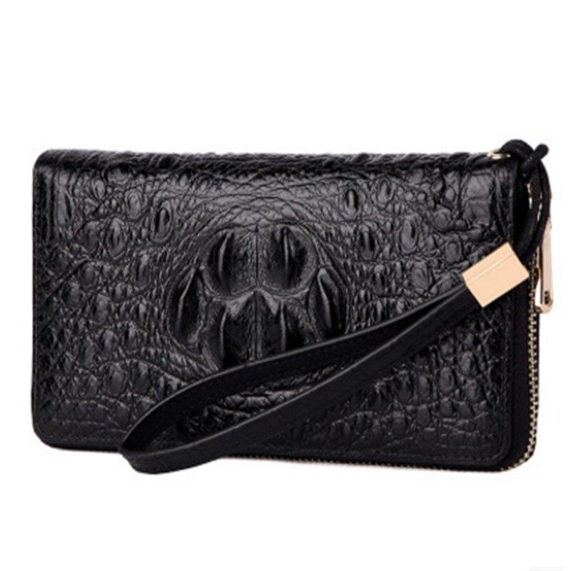 Steelsir Punk en cuir véritable hommes portefeuille d'affaires de mode de haute qualité doux Long sac à main de mode portefeuilles de porte-carte