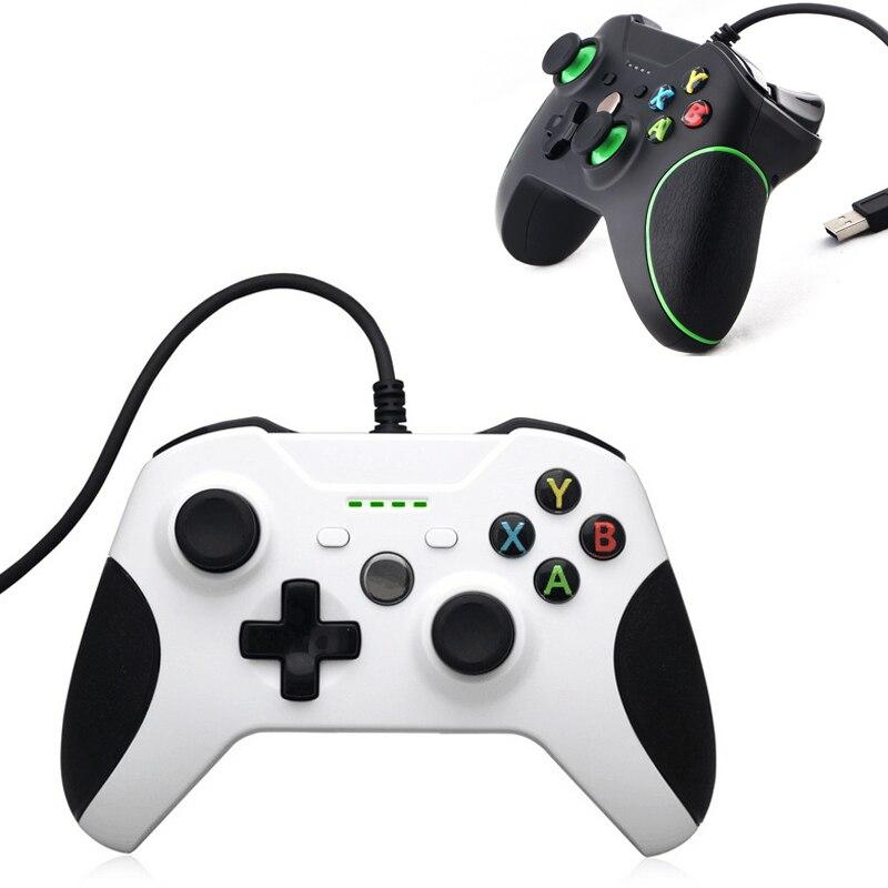 USB Filaire Contrôleur Controle Pour Microsoft Xbox Un Contrôleur Gamepad Pour Ordinateur PC Windows Mando Pour Xbox one Joystick
