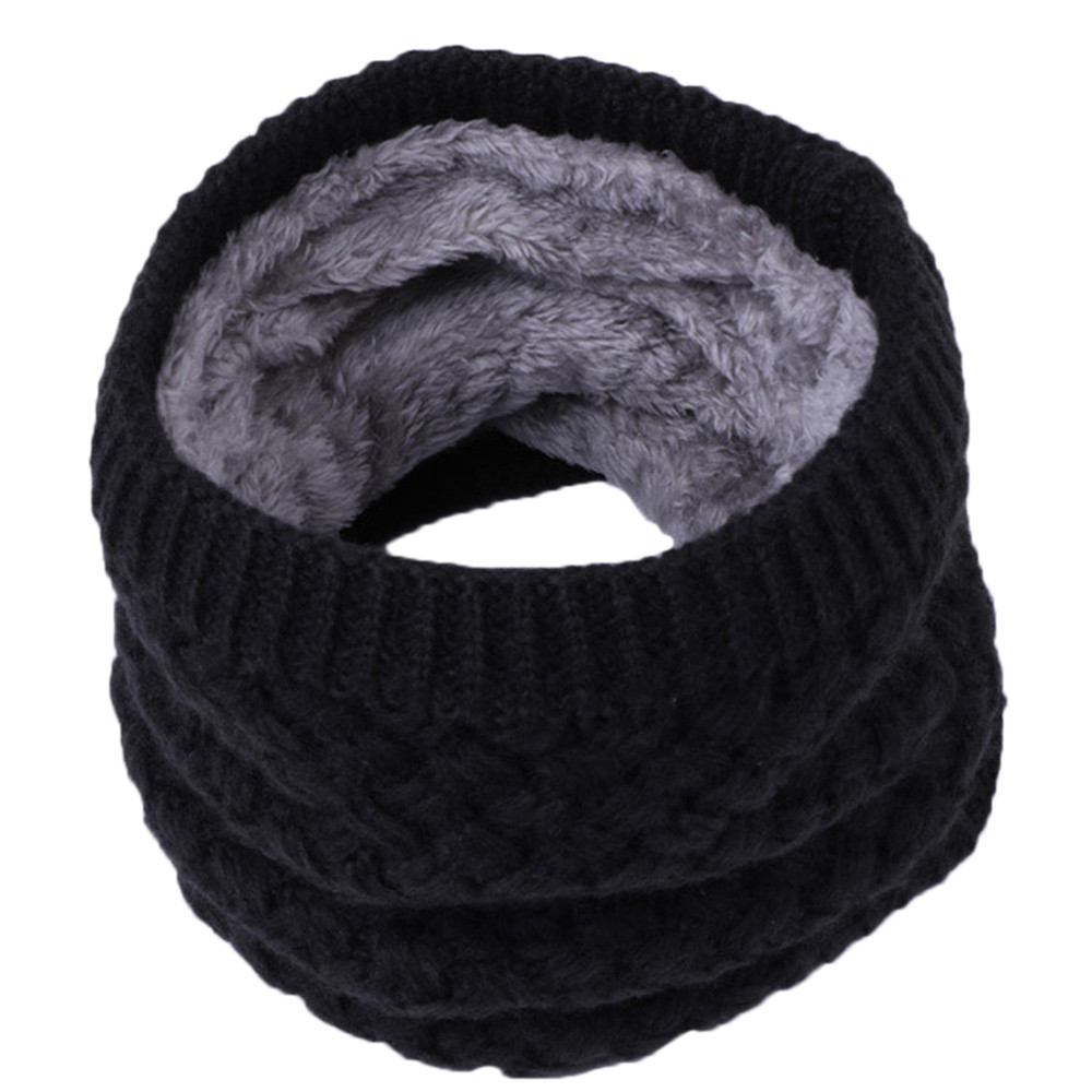 Boys Girls Warm Knit Scarf Neckwarmers Winter Thicken Shawl Muffler Scarves Wrap