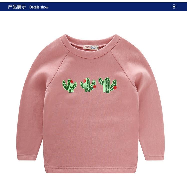 2016 spring section of children s sweater Korean cactus printing cotton font b men b font