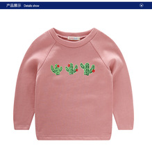 2016 spring section of children 's sweater Korean cactus printing cotton men and girls  baby shirt age from 2-10T