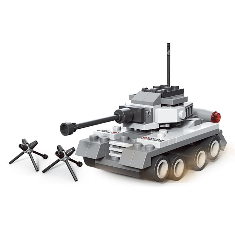 128pcs Military Field Legion Army Tank Educational Bricks Kids Building Blocks Toys for Boys Children Enlighten Gift K2680-23030 8 in 1 military ship building blocks toys for boys