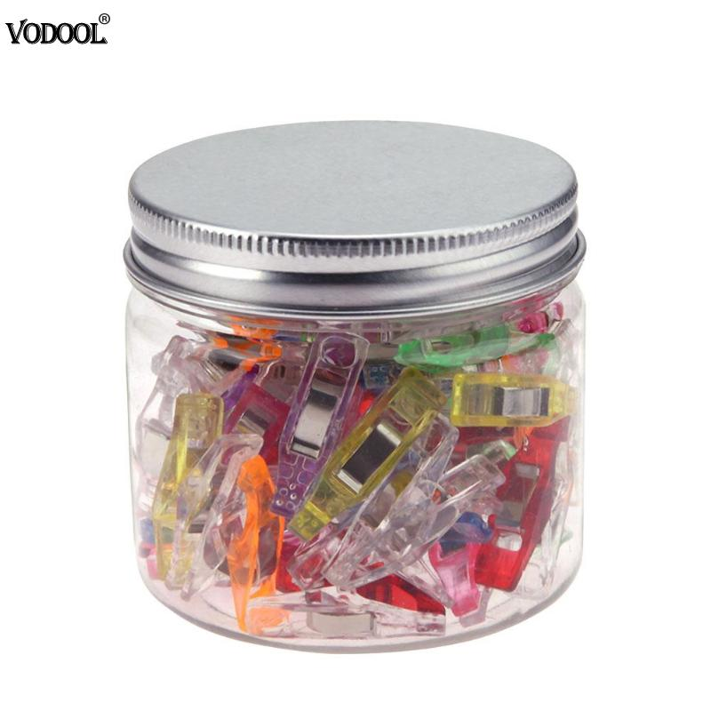 50Pcs Mixed Plastic Wonder Clips Holder For DIY Patchwork Fabric Quilting Craft Sewing Knitting Clips Home Office Supply Handy