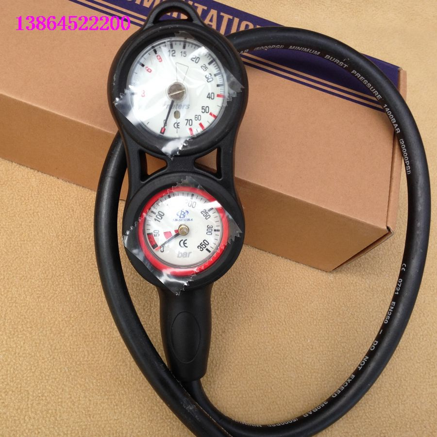 Import multi joint combination diving watch diving watch triple meter diving depth gauge + compass direction