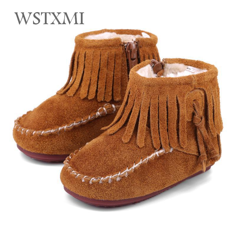 New Winter Baby Boots Children Snow Boots for Boys Shoes Girls Genuine Leather Plush Toddler Kids Rubber Ankle Boots Non-slip babyfeet 2017 winter fashion warm plush high top genuine cow leather children ankle girls snow boots kids boys shoes sneakers