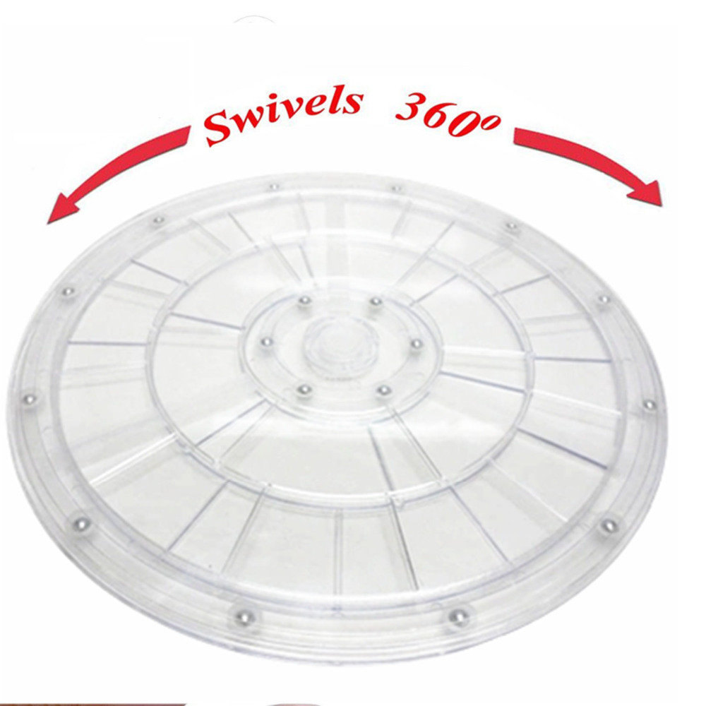 30 Cm Plastic Hand Wheel Transparent Acrylic Rotating Turntable Furniture Accessories Diameter