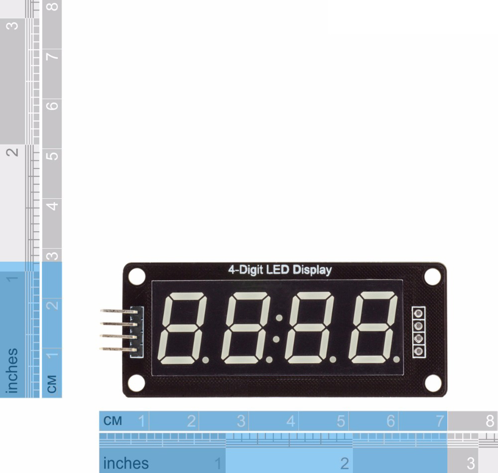 Tm1637 4 Digit 056 Red Led Display Digital Tube Decimal Color For Beginners Clock With 7segments And Rtc 7 Segments Inch Double Dots Module Arduino In Replacement Parts