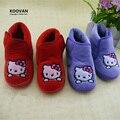 Koovan promoção ano novo gatos da vaquinha do bebê sapatos fundo macio primeiro Walker sapatos Meninas Sapatos Meninos Botas KT das Crianças 1-3 Anos KY117