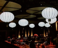 China manufacture Giant Inflatable hang ball ,Large Inflatable LED round ball Lights