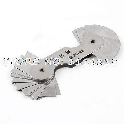 Aliexpress buy metal foldable radius gauge gage measurement metal foldable radius gauge gage measurement tool r26 40mm greentooth Images