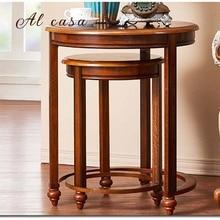Журнальный столик большого и маленького размера из массива дерева, чайный столик в традиционном классическом стиле