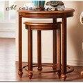 Журнальный столик большого и маленького размера  чайный столик из цельного дерева в традиционном классическом стиле