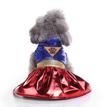 Летние каникулы подстилка для животных Щенок Костюм супердевочки фестиваль вечерние костюм для собаки милые юбка для косплея костюм Одежда для щенков