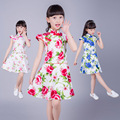 Kids Infant Girl Flower Petals Dress Children Bridesmaid Elegant Qipao Dress Pageant Vestido Infantil Tulle Formal Party Dress