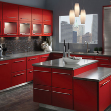 Dark Red Kitchen Cabinet Factory China