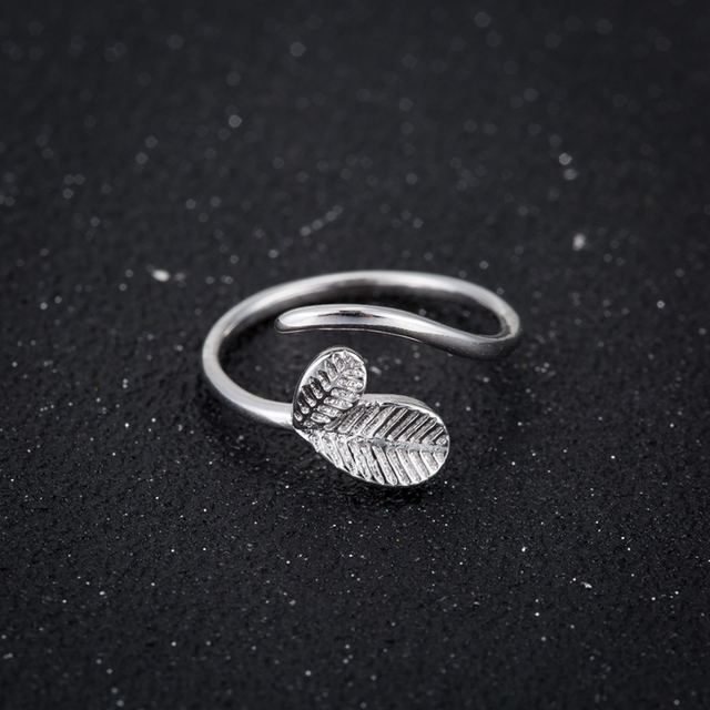 milano a rings leaf ring turning brighton silver over products new