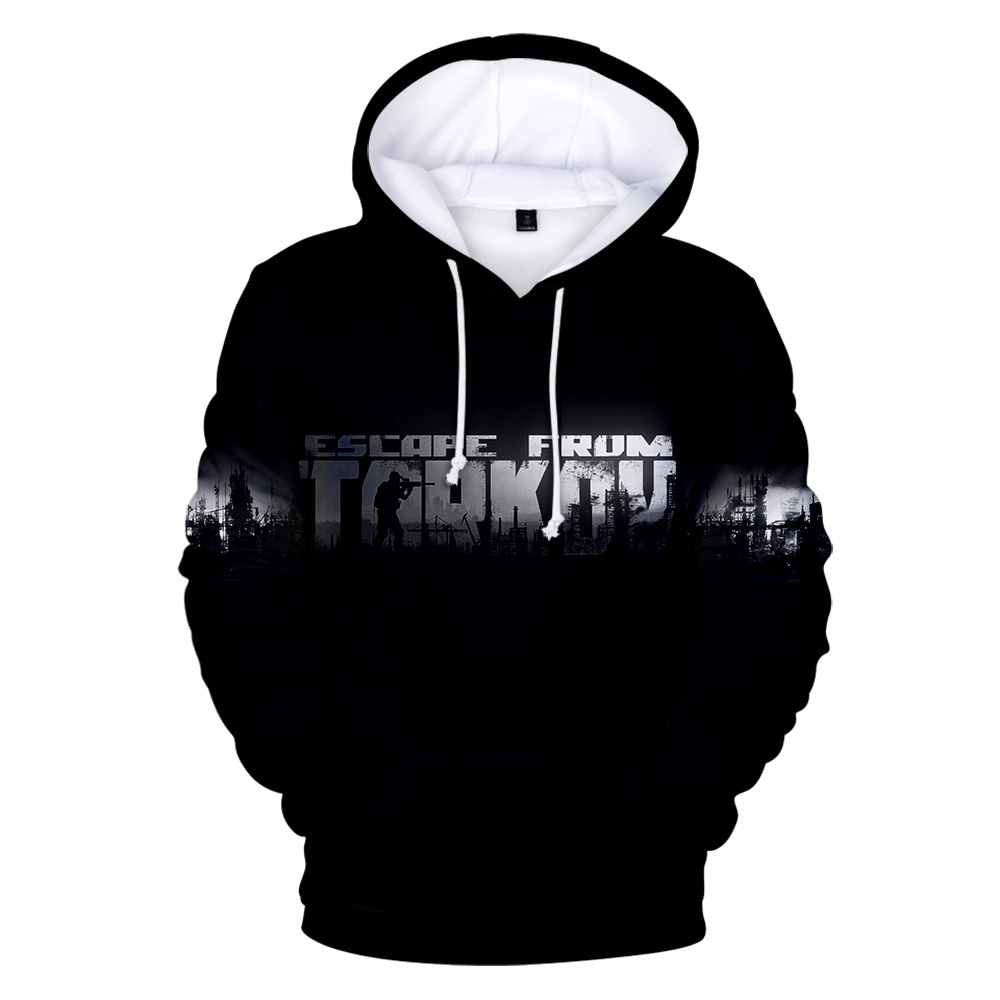 2019 New Fashion Hot Games Escape the Tarkov 3D Hoodies Trends for Men and Women Men's Black Letter Sports 3D Hooded Sweatshirts(China)