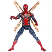 цена 18cm Marvel The Avengers Endgame Iron Spiderman Infinity War Spider Man Movable Action Figure Gift Toys Collection Dolls