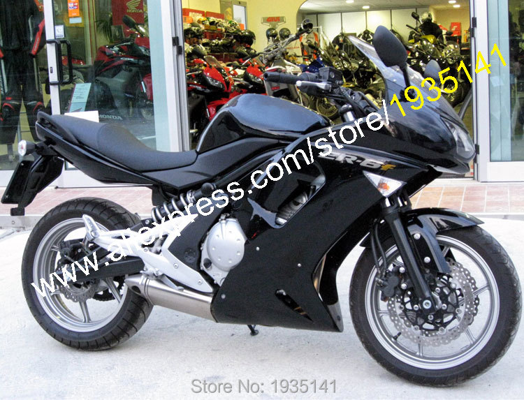 Hot Sales,For Kawasaki Fairing ER-6F 06 07 08 ER6F 2006 2007 2008 ER 6F Ninja 650 Full Black Aftermarket Sportbike Fairing Set