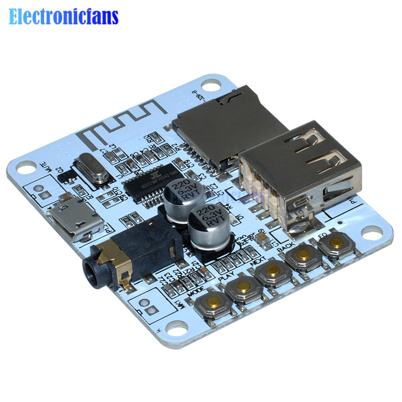 Bluetooth Audio Receiver board with USB TF card Slot ...