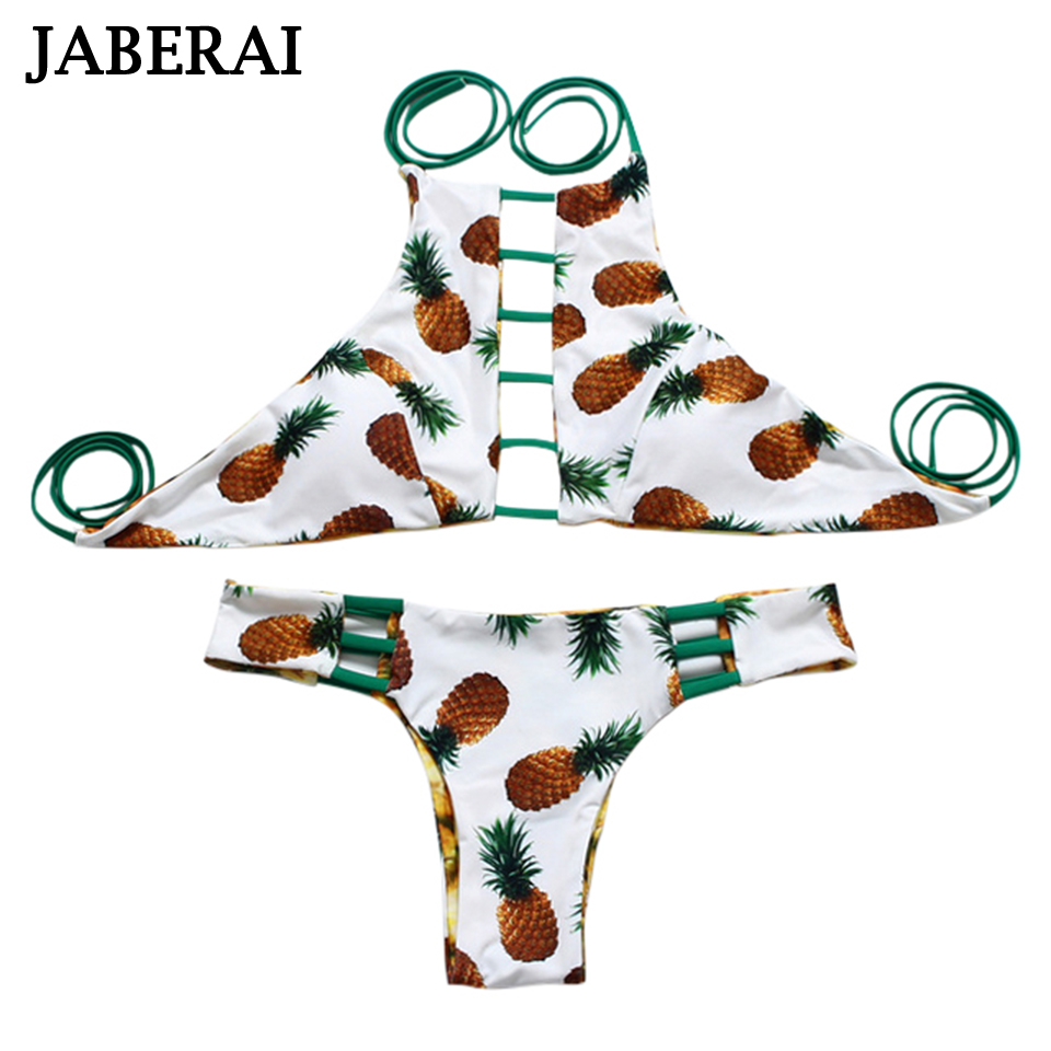 JABERAI bikini set women push up High Neck Swimwear Reversible Beach Swimsuit Bathing Suit Bikini Brazilian Maillot De Bain ruuhee bikini swimwear women swimsuit 2017 bikini set bathing suit reversible brazilian beachwear push up maillot de bain femme page 9