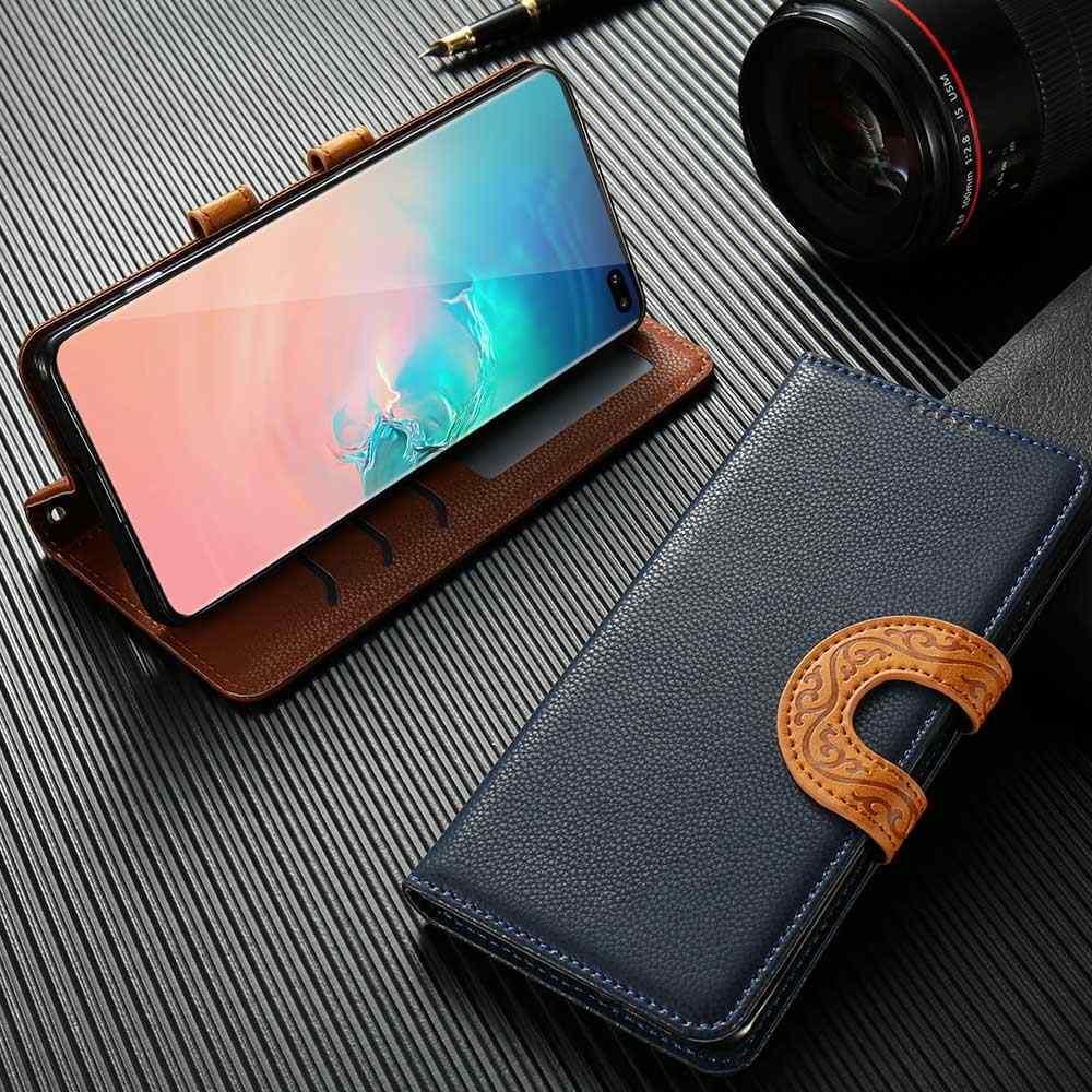 KISSCASE Ví Bao da Dành Cho Samsung Galaxy Samsung Galaxy Note 9 8 S10 Plus S10e S10 S9 Plus S9 A9 A8 Plus a6 Plus A6 A8 A7 2018 Funda Túi
