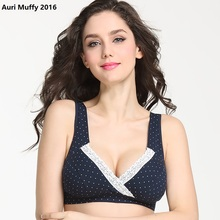 Auri Muffy 2016 Maternity Underwear cross Nursing Bra lace Breast Feeding Bra Pregnant women underwear maternity