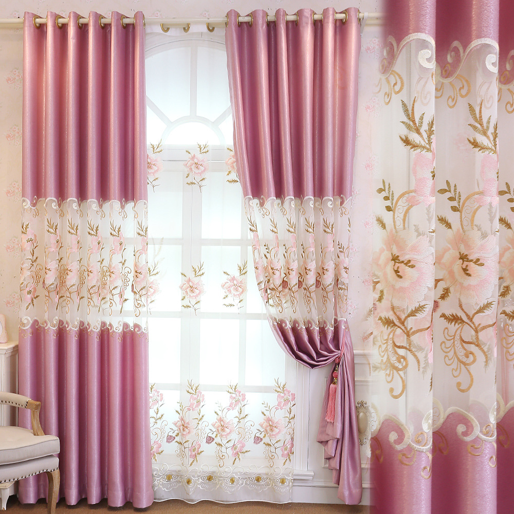 Buy new curtain fabric european style - European style curtains for living room ...