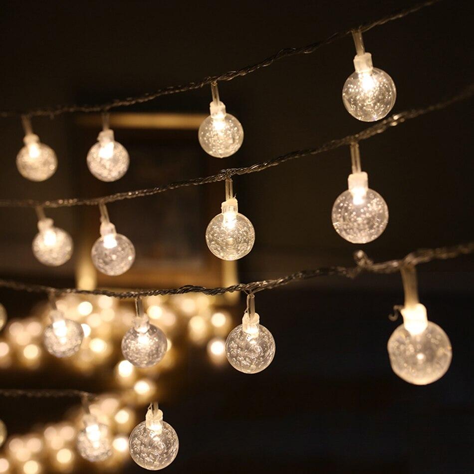 4 m 40 pcs led ronde boule transparente DIY led chaîne lumière décoration, 3AA batterie exploité parti fournitures, maison, jardin décoration