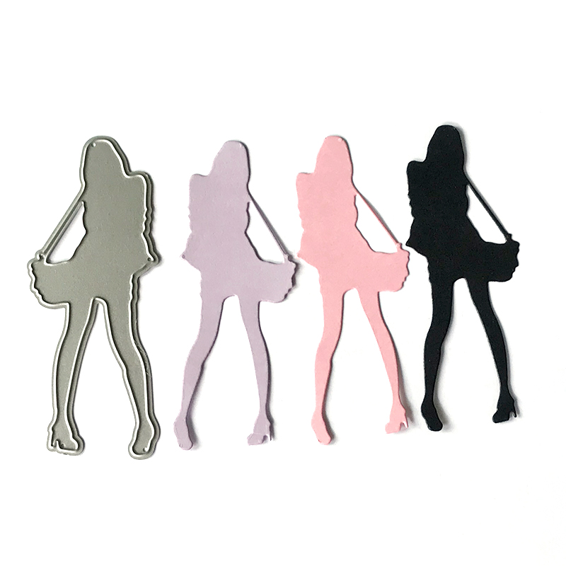 New Girl Sexy Women Metal Cutting Dies for Scrapbooking DIY Album Embossing Folder Paper Card Maker Template Decor Stencils Dies in Cutting Dies from Home Garden