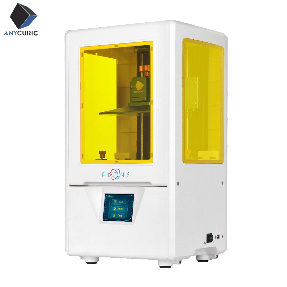 Photon-S LCD 3D ANYCUBIC 405nm Matriz Luz UV Dual eixo Z Impressora Fatia Rápida SLA 3d Impressora de Fótons atualizado Módulo UV